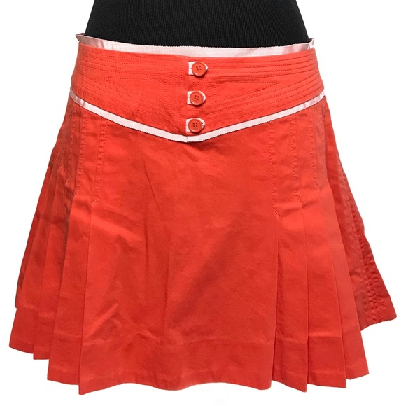 Marc Jacobs Dresses & Skirts - Marc Jacobs Orange Pleated Mini Skirt